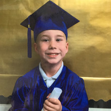 Alexander starts school just months after undergoing fifth surgery