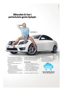 Ny reklam som driver med den gubbiga bilbranschen.