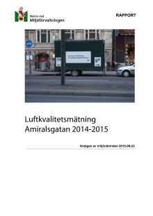 Rapport - luftkvalitetsmätning Amiralsgatan 2014-2015
