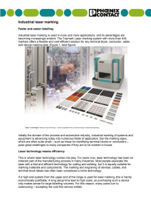 Industrial laser marking: Faster and easier labelling