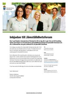 Inbjudan till Jämställdhetsforum