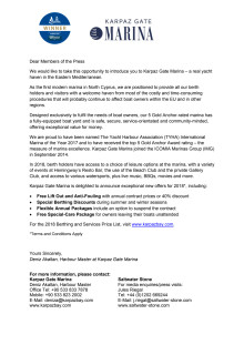 Karpaz Gate Marina Welcome Letter