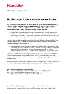 Hemköp säljer första klimatsäkrade sortimentet