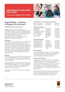 Byggutbildning - Informationsblad