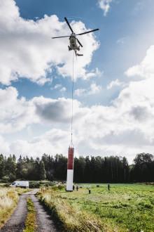 Antennbyte på tv-masten i Sunne/Blåbärskullen