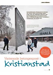 Varierande betongexposé i Kristianstad, Tidningen Betong, april 2014