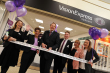 Local MP Toby Perkins joins Vision Express to officially open its new optical store at Tesco in Chesterfield