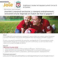 Les équipes juniors peuvent gagner la Journée de Liverpool FC