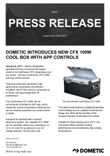 Dometic Introduces New CFX 100W Cool Box with App Controls