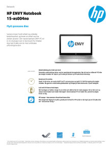 HP Envy Notebook 15-as004no dataark