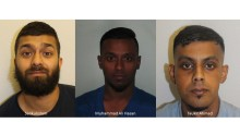 Three jailed for drugs offences in Tower Hamlets