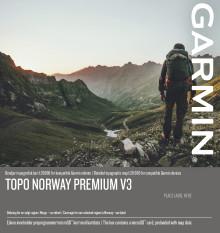 Topo Norway Premium v3 - detaljert topografisk kart 1:20 000 for kompatible Garmin enheter og PC/Mac