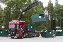 Återvinningsstation i Sollefteå tas bort tillfälligt