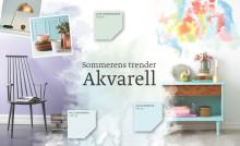 """Slik styler du hjemmet ditt for å skape en av sommerens tre store trender - """"Akvarell""""."""