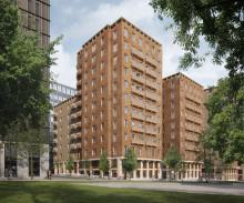 Säljstart för Cederhusen - Stockholms första bostadskvarter i massivträ