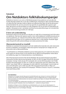 Netdoktors folkhälsokampanjer
