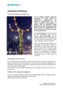 Info om Julstaden Göteborg 2015