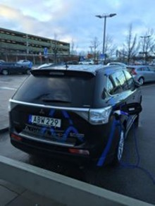 Charge Amps SPARK laddar Mitsubishi Outlander PHEV