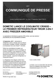 Dometic Lance Le CoolMatic CRX65D – Le Premier Réfrigérateur Tiroir 3-En-1 Avec Freezer Amovible