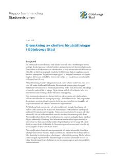 Sammandrag. Granskning av chefers förutsättningar i Göteborgs Stad (juni 2018)