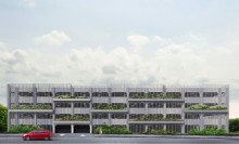 Midroc bygger ett nytt parkeringshus i Bulltofta Friluftsstad, Malmö