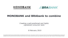 Monobank and BRAbank to combine