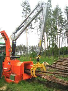 Miljöanpassad flistugg utökas med kranserie från Multiforest