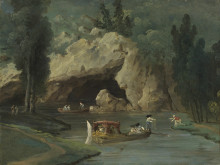 New Acquisition: Boats in Front of the Grotto in the Park at Méréville by Hubert Robert