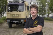 Mit Truck und Cochlea-Implantat (CI) um die ganze Welt: CI-Träger Joachim Albrecht startet Reise-Abenteuer in Hannover