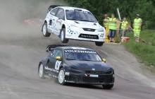 Andra raka rallycrossegern för Johan Kristoffersson och Volkswagen Dealer Team KMS