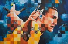 Porträtt av hyllade sportstjärnor ställs ut på Scandic Park i Stockholm