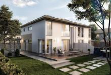 Modernes Doppelhaus für Normalverdiener: Das neue Aura 136 von Town & Country Haus