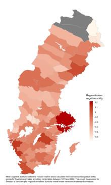 Genomsnittlig kognitiv förmåga i Sverige