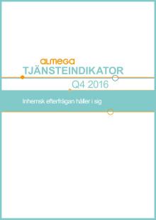 Kortversion av tjänsteindikatorn, Q4 2016