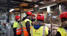 Välkommen till Övik Energi - nyanställda lär sig mer om Hörneborgsverket