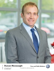 Volkswagen UK appoints Duncan Movassaghi to Head of Service and Parts