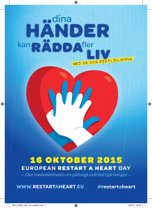 Flyer Restart-a-heart day Sverige 2015