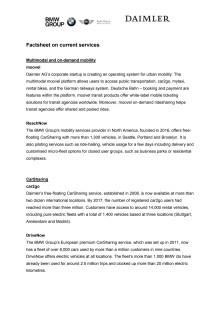 BMW Group and Daimler AG - factsheet