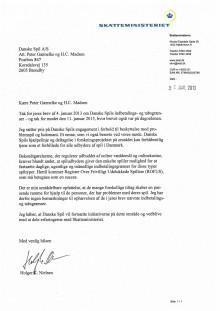 Brev fra skatteminister