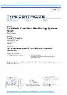 Condition Monitoring Certificate