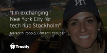 Exchanging New York City for tech hub Stockholm