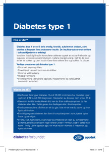 Fagkort Boots apotek - Diabetes type 1