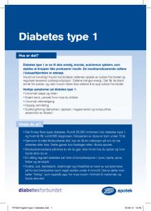 Fagkort Boots apotek - Diabetes type 1