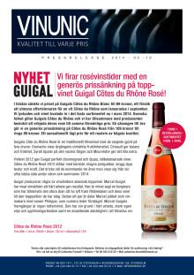 Toppvinet Guigal Côtes du Rhône Rosé!