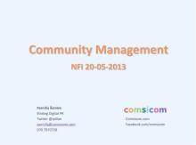 Community Manager - värdinna för festen eller gästen som gör intryck? En introduktion i community management