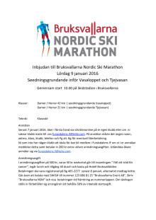 Inbjudan Nordic Ski Marathon