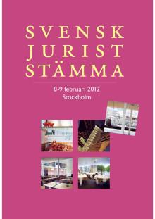 Programmet till Svensk Juriststämma 2012