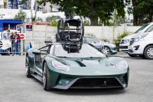Sjældent syn ved Le Mans - Ford GT med kørestol på taget!
