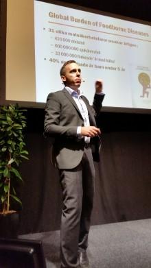 Rikard Hellqvist talar om riskhantering på Food Chain Nordic