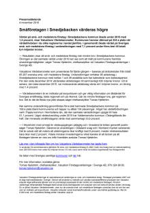 Värdebarometern 2015 Smedjebackens kommun